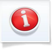 red circular info button