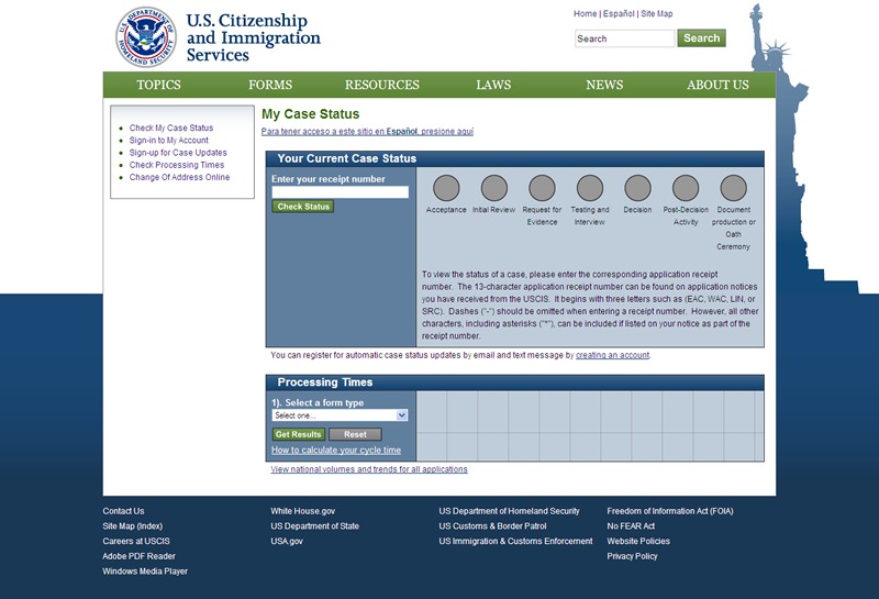 Exhibit 14-A: The U.S.  Citizenship and Immigration Services Web Portal