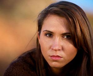 Photograph of a Native American teen girl.