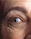 an older person's eye