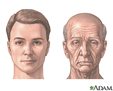 Illustration of a younger man and an older man
