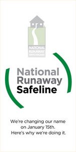 Image showing the old NRS logo changing to National Runaway Safeline