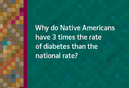 Why do Native Americans have 3 times the rate f diabetes than the national rate?