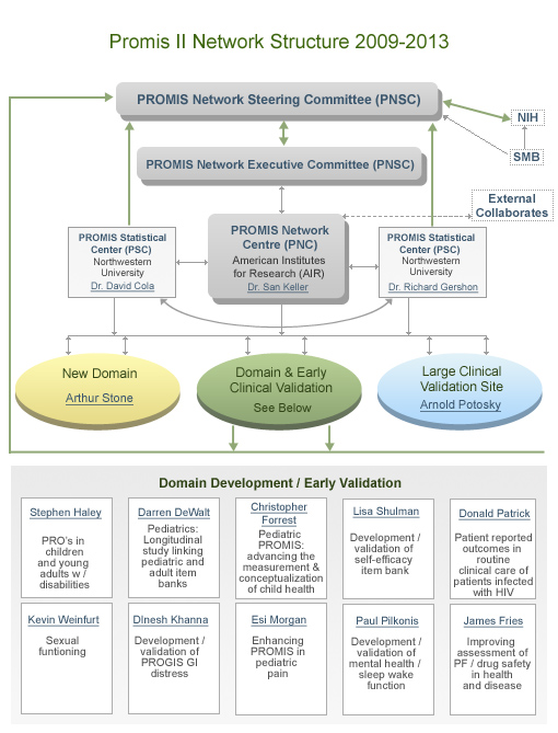 PROMIS network structure 2009-2013