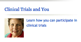 Clinical trials and you graphic