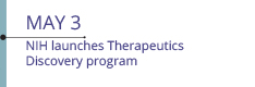 May 3: NIH launches Therapeutics Discovery program