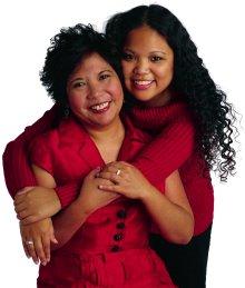 Madre e hija visten de rojo por Día Nacional de Vestir de Rojo