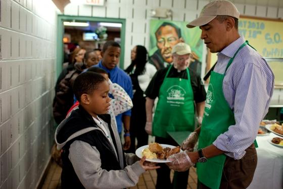 President Obama on MLK Day of Service 2010