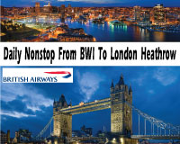 British Airlines NonStop to London Heathrow