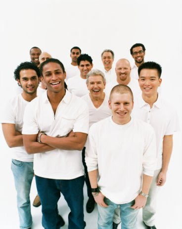 group of smiling guys