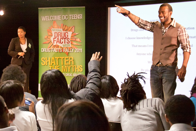 Speaker at  Mentor's National Drug Facts Week even 2011.