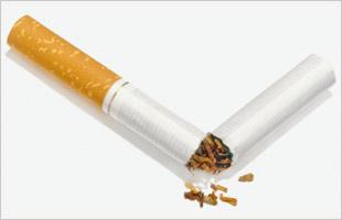 Image of a cigarette split in half