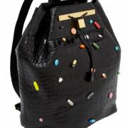 A black purse.
