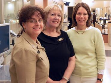 Dr. Clare Hastings (right), Debbie Kolakowski (middle), and Ann Marie Matlock (left)