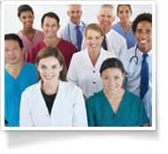 This is an image of doctors and nurses