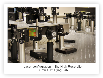 Laser configuration in the High Resolution Optical Imaging lab