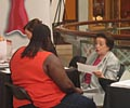 2009 Road Show - Renowned cardiologist Dr. Nanette Wenger provides consultations at The Heart Truth Road Show in Atlanta.