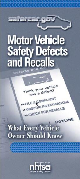 Defects and Recalls Booklet
