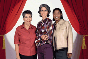 3 women standing together