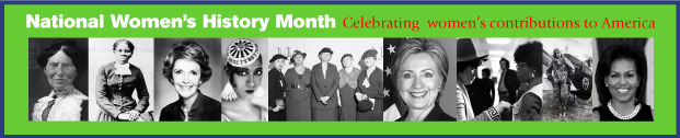 National Women's History Month banner image