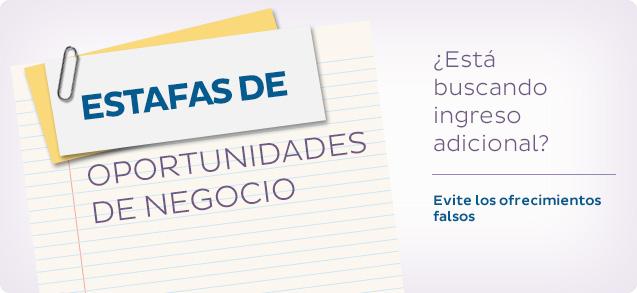 Estafas de oportunidades de negocio: ¿Está buscando ingreso adicional? Evite los ofrecimientos falsos.