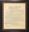N-06-7059F - Poster Framed Bill of Rights