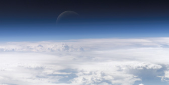 View of weather systems from air