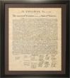 N-06-7058F - Poster Framed Declaration of Independence