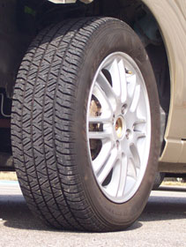 tire at 32 psi - recommended pressure