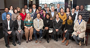 NIDA International Program's Ms. Dale Weiss, Associate Director, sitting second from left, welcomes new 2012 Hubert H. Humphrey, INVEST, and INVEST-CTN Fellows