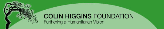 Colin Higgins Foundation logo, showing a weeping willow tree.