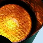 Orange traffic light