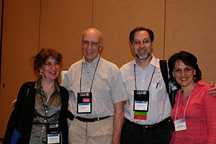 Gvantsa Piralishvili, Georgia; George Woody, University of Pennsylvania; Flavio Pechansky, Brazil; Irma Kirtadze, Georgia, standing together and smiling.