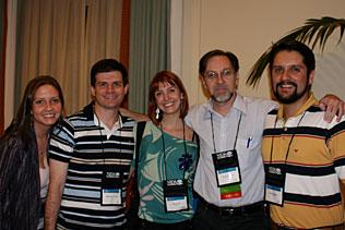 Fernanda Mnhoz Driemeier, Anderson Ravy Stalf, Sibele Faller, Flavio Pechansky, Felix Kessler, all from Porto Alegre, Brazil, standing in a group and smiling.
