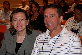 Petra Jacobs, NIDA and Ivan Montoya, NIDA sitting and listening to presentations.