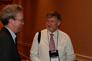 Steve Gust, NIDA speaking to Olaf Drummer, Australia.