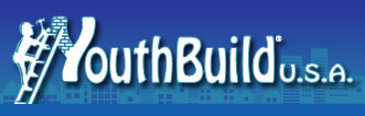YouthBuild USA logo shows a young person climbing a ladder.