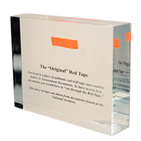 Authentic Government Red Tape Paperweight