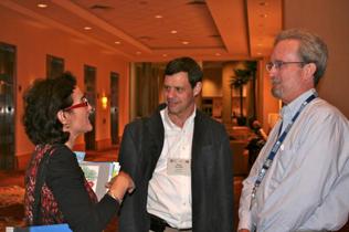 Left to right: Helena Barros, David Shurtleff, Steve Gust
