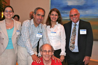 Left to right: Cathy Friedman, Bijan Nasirimanesh, Shabnam Salimi, Clyde McCoy; front: Sam Friedman