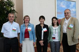 Left to right: David Otiashvili, Olga Toussova, Yen Jung Chang, Marsha Lopez, Adrian Abagiu