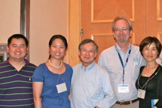 Left to right: Qijian Deng, Huahui Zhang, Walter Ling, Steve Gust, Min Zhao