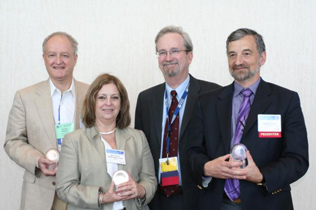Left to right: Richard Rawson, Maria Elena Medina Mora, Steve Gust, Jeffrey Samet