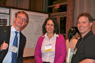 Left to right: Peter Vazan, Silvia Cruz, Scott Bowen