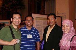 Left to right: Szu Hhsien Lee, Mahmud Mazlan, Mohammad Arief Hidayat, Hepa Susami