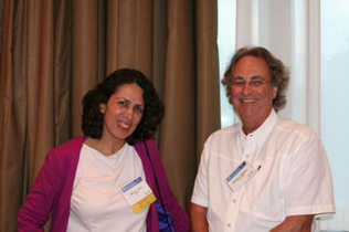 Left to right: Silvia Cruz and Robert L. Balster