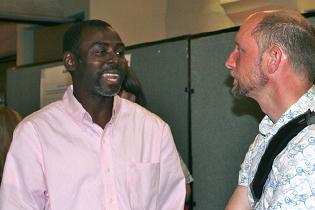 L-R:  Eugene Dordoye, Ghana  Nicolas Clark, WHO