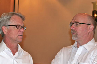 Left to right:  Michael Baumann, NIDA  Barry Logan, National Medical Services Labs, Inc.
