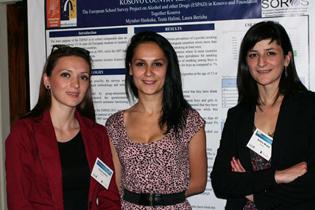Left to right:  Teuta Halimi, Kosovo  Laura Berisha, Kosovo  Dafina Muqaj, Kosovo