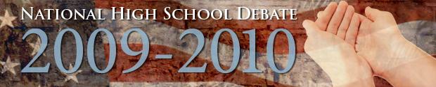 National High School Debate topic for 2009-2010